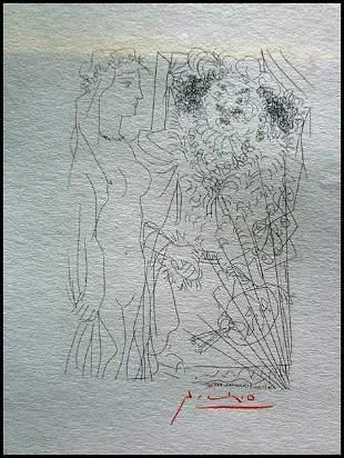 Pablo Picasso Rembrandt Y Mujer Con Velo