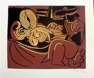 Pablo Picasso Woman Picador con Chitarra