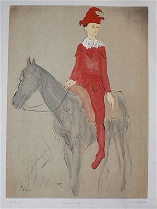 Pablo Picasso Clown on a Horse