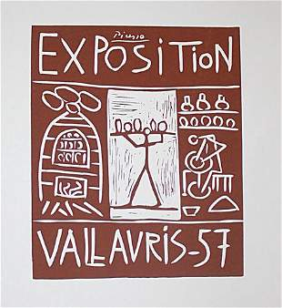 Pablo Picasso Poster for Vallauris Fair
