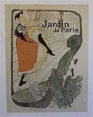 Jane Avril at the Jardin De Paris 1893 By Henri de