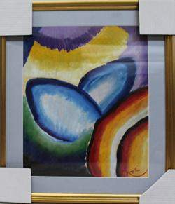 Composition VII Oil Painting on Paper Frantisek