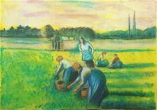 La Recolte Des Foins Eragny Camille Pissarro