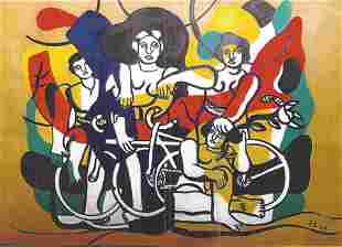 Circus Fernand Leger Oil On Paper In The Style Of