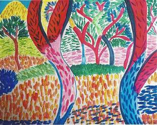 The Jungle Andre Derain Watercolor On Paper In The