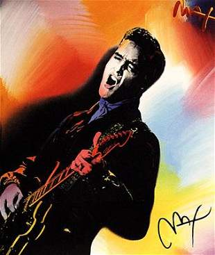 Peter Max Young Elvis