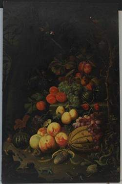 Oil on Wood in the style of Abraham Mignon Fecit