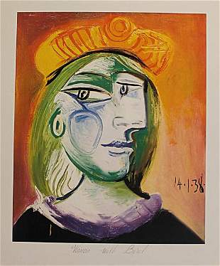 Woman in beret by Pablo Picasso