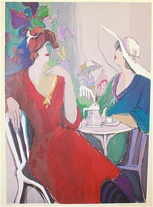 Isaac Maimon Two Woman At Cafe