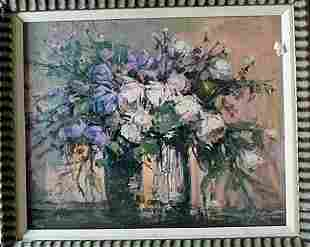 Framed Original Embellished Giclee Florals I