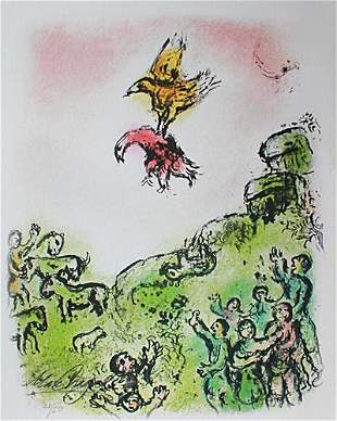 Marc Chagall - The Omen, Dove and Eagle