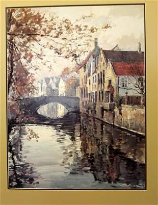 Brugge Reflections Robert Schaar Matted Print