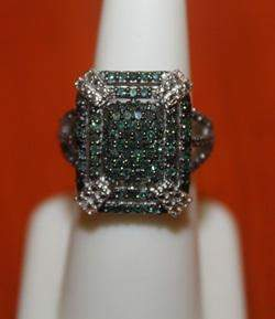 Fascinating Green Diamond Ring