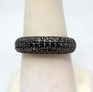 Dazzling Black Diamonds Silver Ring