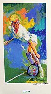 Tennis In the style of LeRoy Neiman