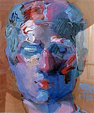 Portrait of Male Peter Max Lithograph