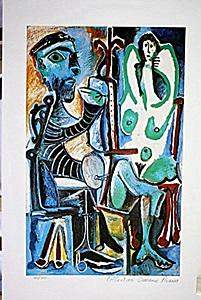 In the style of Picasso Limited Edition The Painter