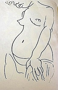 """Lithograph """"Nu Au Visage Couple"""" after Henri Matisse"""