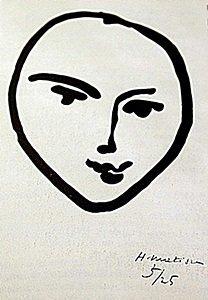 "Lithograph ""tete De Face"" After Henri Matisse"