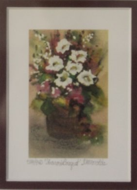 """Lithograph """"sharon's Bouquet"""" By Kathleen Morolda"""