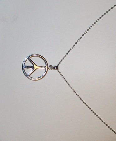 Stylish 18'' Chain with Peace Sign Pendant.