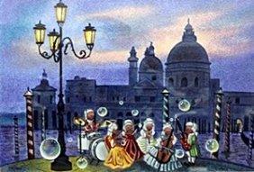 "Serigraph ""venetian Orchestra"" After Peter Ottavio"