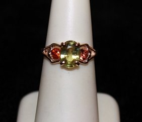 Beautiful 14kts Yellow Gold Alexandrite Sapphire Ring.
