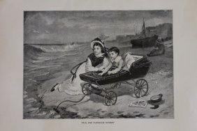 """Fine Art Illustration """"paul And Florence Dombey"""""""