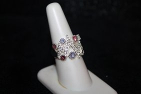 Lady's Fancy Pink Sapphire, White Sapphire & Rubies