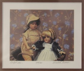 """Lithograph """"perfect Pair"""" By Gerald Lubeck"""