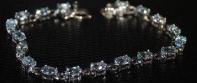 Lady's Fancy Aquamarine Bracelet.