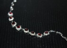 Beautiful Citrine Silver Bracelet.