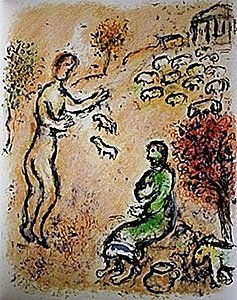 "Lithograph ""Ulysses and Eumaeus"" by Chagall from the"