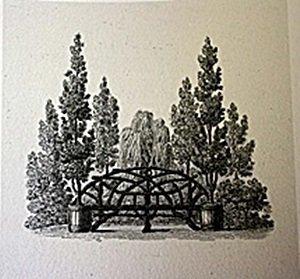 Park Scene Lithograph
