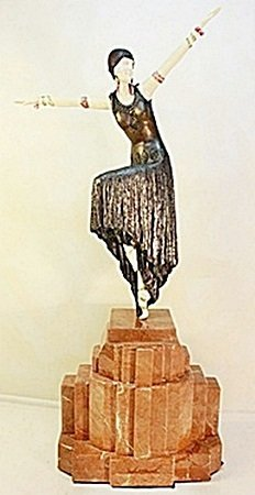 Shimmer - Bronze and Ivory Sculpture by Chiparus