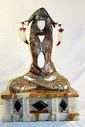 Civa- Bronze And Ivory Sculpture By Chiparus