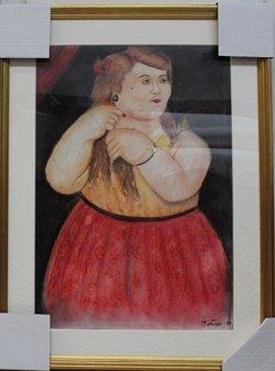 Senora Fernanda - Pastel On Paper - Fernando Botero
