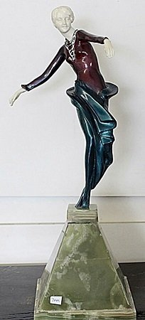 Dancer  - bronze and Ivory Sculpture by Chiparus
