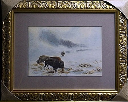 Watercolor Painting on Cardboard, Signed R. Jenkins
