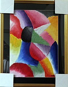 The Rhythm Of Color - Oil Painting On Paper - Robert