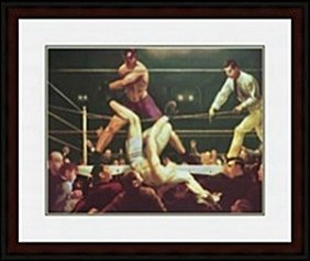 Dempsey And Firpo, 1922 By George Wesley Bellows