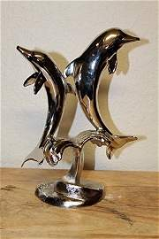 Beautiful Sterling Silver 2 Dolphins