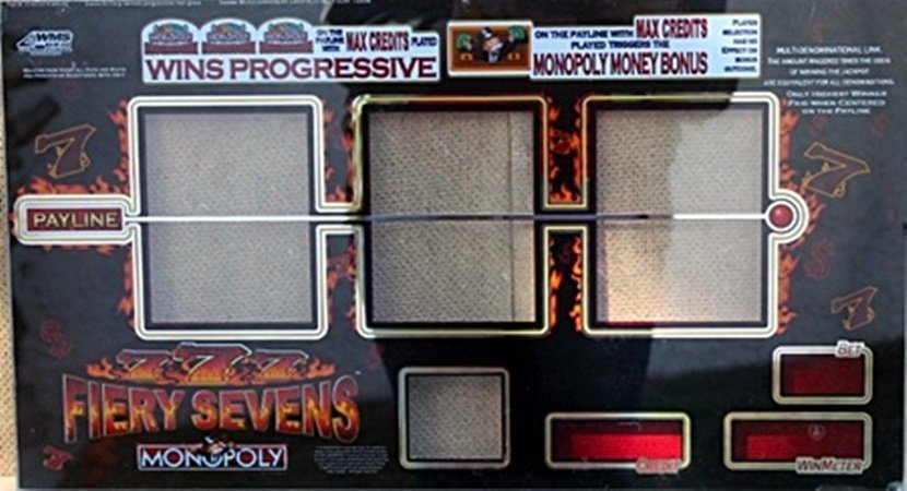 """Vintage Collectible Casino Slot Machine Glass """"Fiery"""