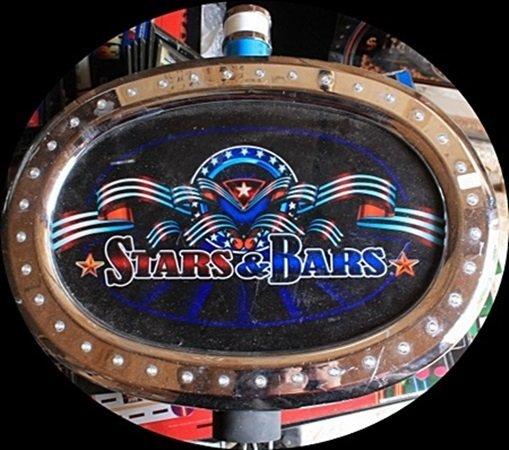 "Vintage ""Stars & Bars"" Casino Slots Topper. (N)"