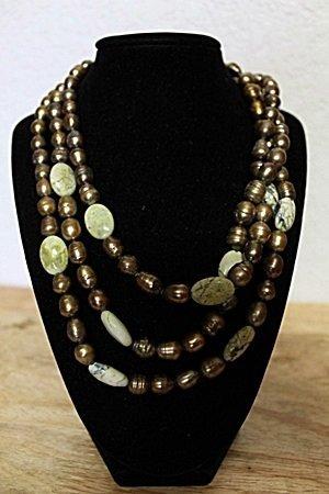 Jade Baroque Pearl Necklace