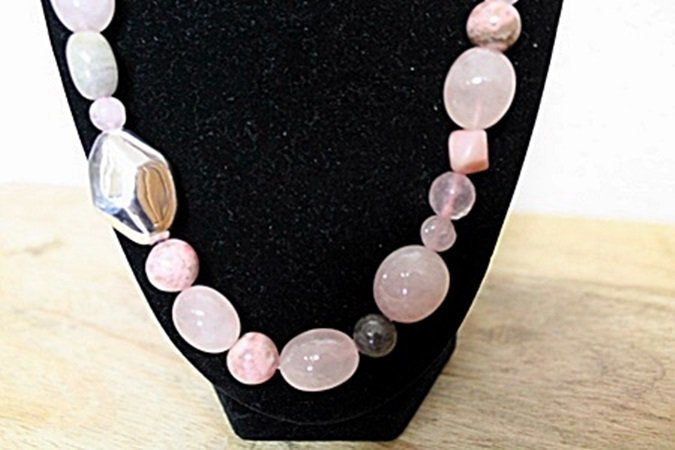 Pink Tourmaline and Sapphire Necklace - 3