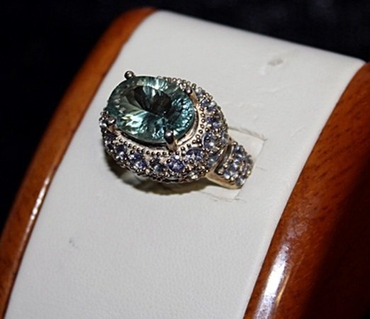 Lady's Fancy Topaz & Tanzanite Silver Ring. - 3