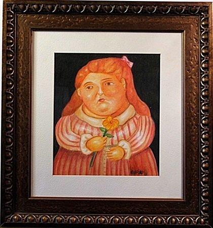 Original Color Pencil on laid paper - signed  Botero