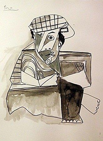 Original Watercolor Signed Picasso