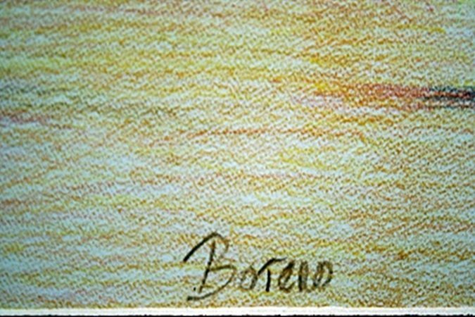 Color Pencil on laid paper - signed  Botero - 2